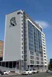 Une nouvelle maison moderne sur l'avenue de Komsomolsky dans Barnaul Images libres de droits