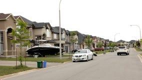 Une nouvelle subdivision avec de belles maisons Photo libre de droits