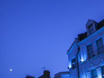 Une nuit bleue Photos stock