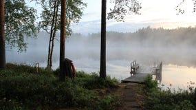 Une nuit d'été en Finlande Images libres de droits