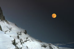 Une nuit dans les montagnes Image stock