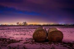 Une nuit givrée au-dessus de Lublin Images libres de droits