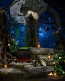 Une nuit magique Photos stock