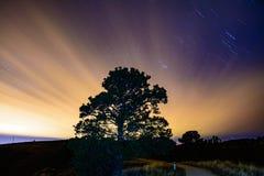 Une nuit nuageuse Images libres de droits