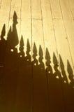 Une ombre du toit Image libre de droits