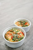 Une omelette cuite au four par four photos stock