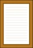 Une page de bloc-notes avec le cadre décoratif Image libre de droits