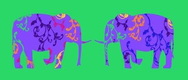 Une paire d'éléphants Photos stock