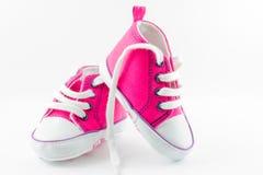 Chaussures de bébé roses Photo libre de droits