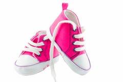 Chaussures de bébé roses Image stock