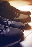 Une paire de chaussures masculines et femelles Images libres de droits