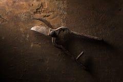 Une paire de Rusty Shears Photos stock