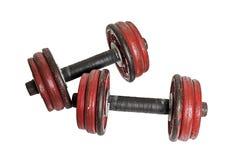 Une paire de Rusty Weights Photos libres de droits