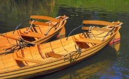 Une paire de skiff Photo stock