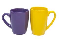 Une paire de tasses Image libre de droits