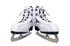 Une paire des patins des femmes Images libres de droits