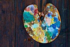 Une palette colorée Images stock