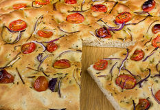 Une part de Foccacia Photos stock