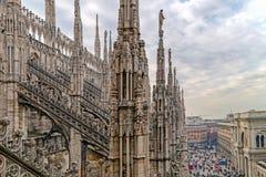 Une part de Milan Cathedral célèbre Images stock