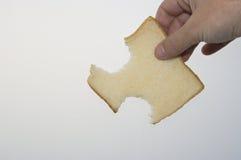 Une part de moulage de pain images stock