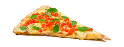 Une part de pizza de margherita Images stock