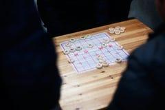 Une partie d'échecs Images stock