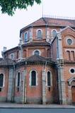 Une partie d'église célèbre de Saigon, Vietnam Photographie stock libre de droits