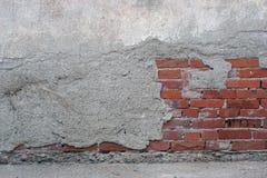 Une partie d'abrégé sur mur de briques, fond texturisé photo libre de droits