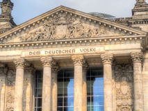 Une partie d'Allemand Reichstag à Berlin, Allemagne image libre de droits