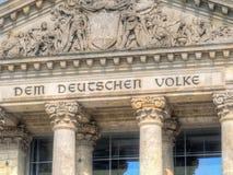 Une partie d'Allemand Reichstag à Berlin, Allemagne photos libres de droits