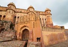 Une partie d'Amber Fort à Jaipur, Inde Photographie stock libre de droits