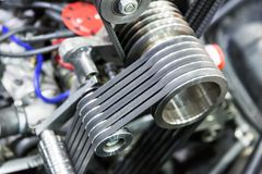 Une partie d'engine de véhicule Photo libre de droits
