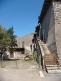 Une partie d'une ferme dans le pays romain l'Italie Photographie stock libre de droits