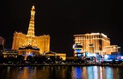 Une partie d'horizon de Las Vegas la nuit   Image libre de droits