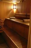 Une partie d'intérieur de sauna Photographie stock