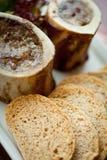 Os et pain de moelle /courgette Image stock