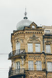 Une partie d'un bâtiment de vintage à Kiev Photos stock