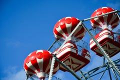 Une partie d'un carrousel, roue de ferris Images libres de droits