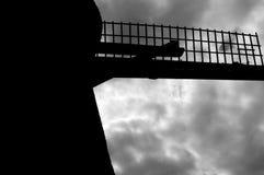 Une partie d'un moulin à vent néerlandais photo stock