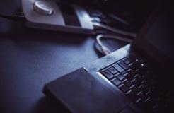 Une partie d'un ordinateur portable Photo libre de droits
