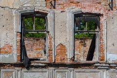 Une partie d'un vieux bâtiment détruit Photo libre de droits
