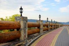 Une partie d'une barrière en bois Images libres de droits