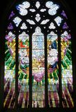 Une partie d'une fenêtre d'église dans la cathédrale Hobart, Tasmanie de St David Photos stock