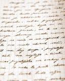Une partie d'une lettre très vieille Photo stock