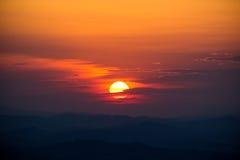 Une partie d'une série de coucher du soleil Photo libre de droits