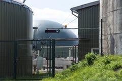 Une partie d'une usine de biogaz Image libre de droits