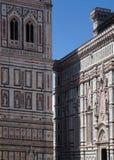 Une partie d'une vieille église à Florence images libres de droits