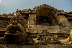 Une partie de borobudur, la merveille du monde, Indonésie Photo libre de droits