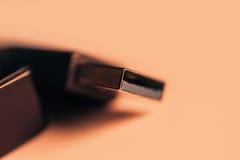 Une partie de câble USB Sépia modifiée la tonalité Photos libres de droits