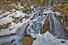 Une partie de cascade d'Argualas dans l'Espagnol Pyrénées Images stock